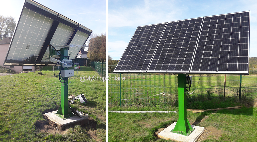 Installation solaire 3 panneaux raccordé au réseau