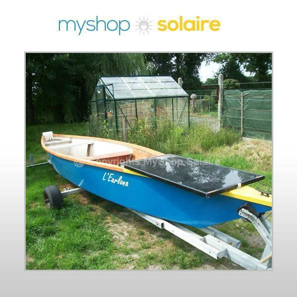panneau solaire sur barque - bateau