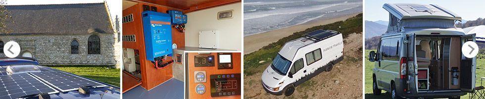 Installation client panneau solaire sur van aménagé et camping car