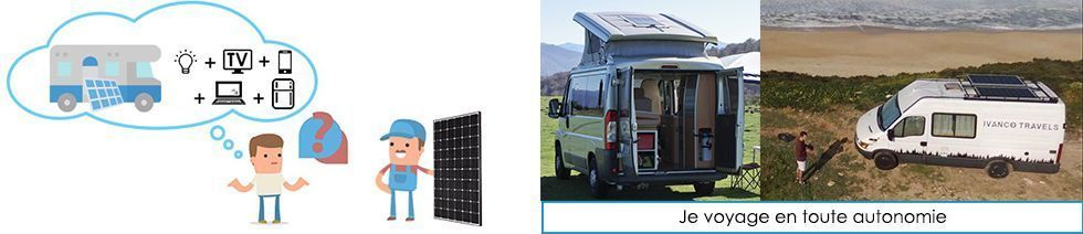 Kit solaire véhicule aménagé