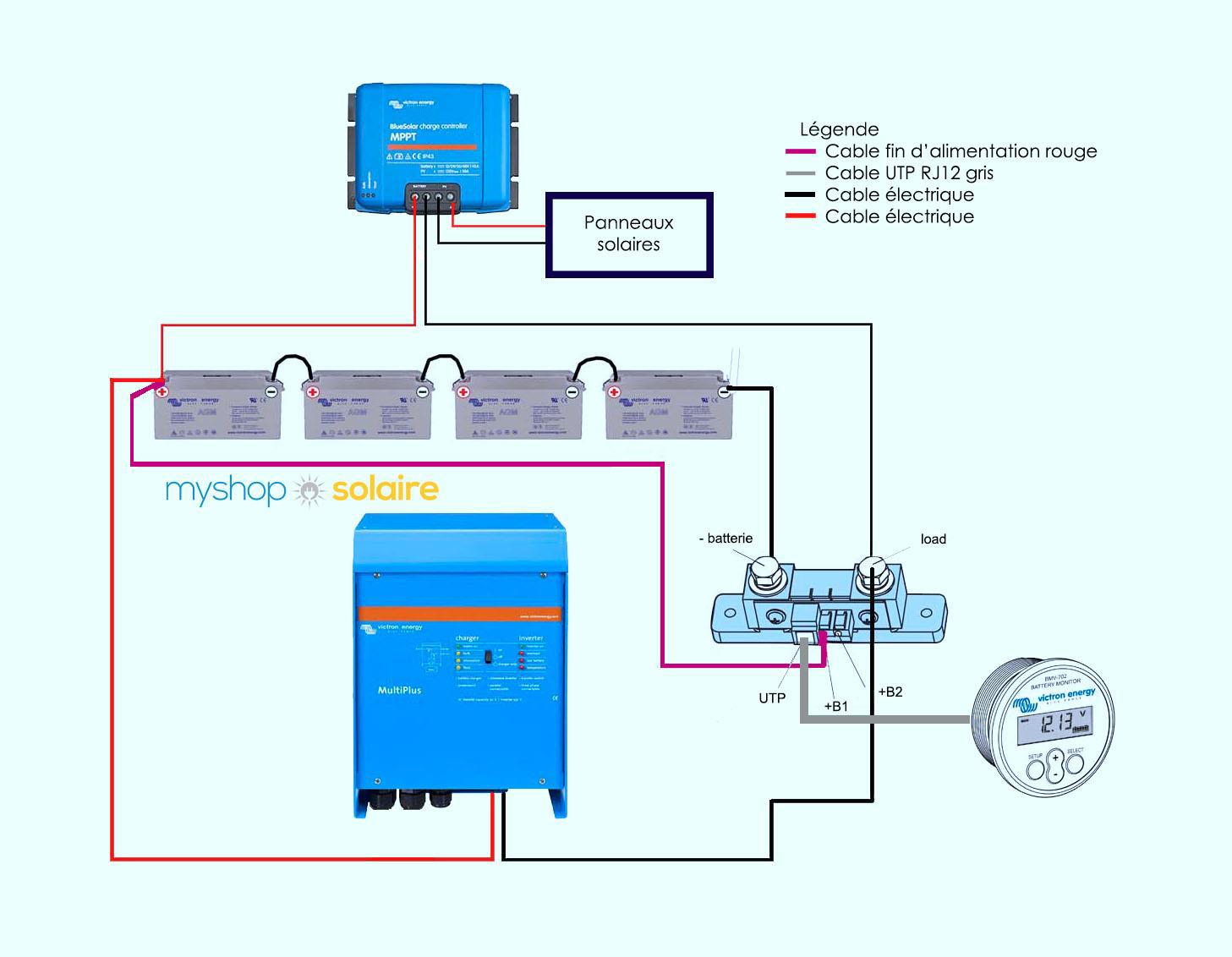 plan de montage BMV-700 / BMV-702