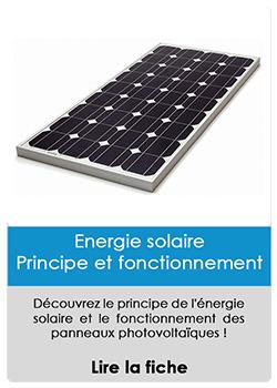 Energie solaire (Principe et fonctionnement)