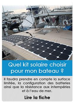 Quel kit solaire choisir pour notre bateau ?