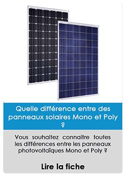 Quel est la différence entre les panneaux solaires mono et poly ?