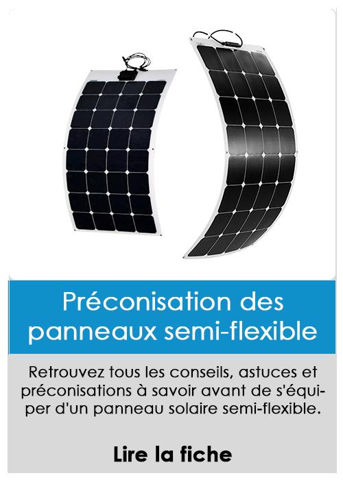 Préconisation panneau semi-flexible