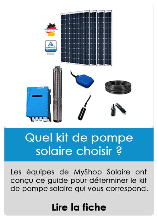 Quel kit de pompage solaire choisir ?