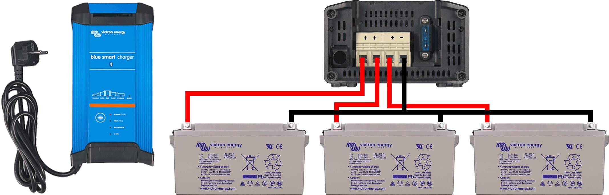 schema de montage chargeur batterie 3 sortie