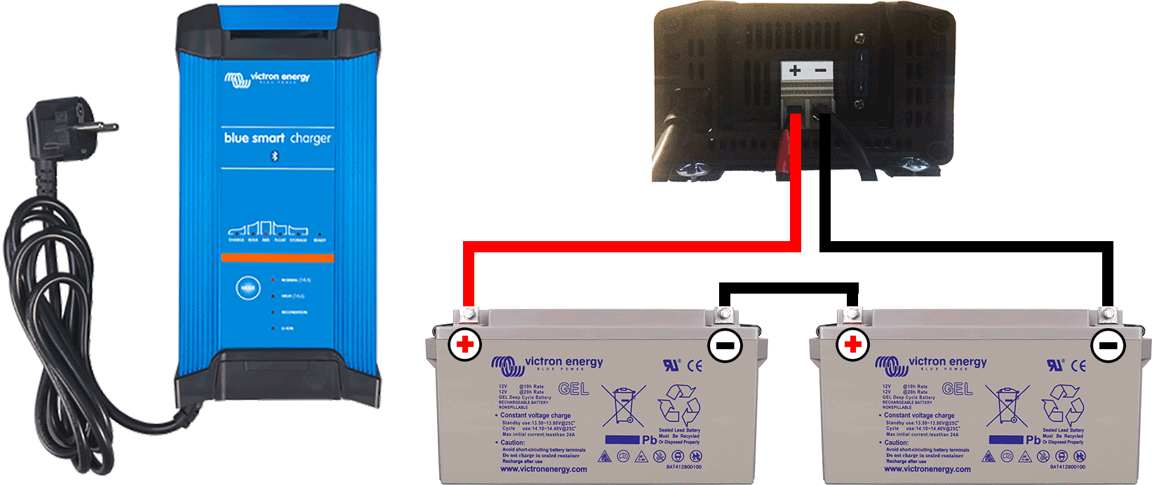 Schema de branchement Chargeur de batterie 1 sortie