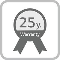 Garantie du produit de 25 ans
