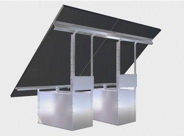 Fixation au sol sans fondation (a lester) 1 x 2 panneaux 200W - 400W / Support et fixation solaire