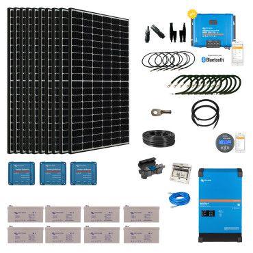 Kit solaire 3850W Hybride - MultiPlus II 230V (5000VA) / Kit solaire autonome