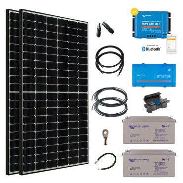 Kit solaire 780W Autonome + Convertisseur 230V 1200VA / Kit pour site isolé