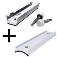 Fixation METASOLE bac acier + adaptateur pour tôle ondulée