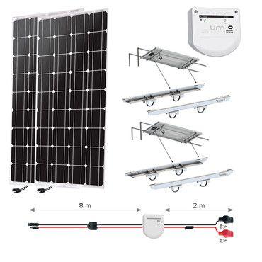 Kit solaire 200W - Portique - Nautisme - Uniteck / Kit solaire Nautisme