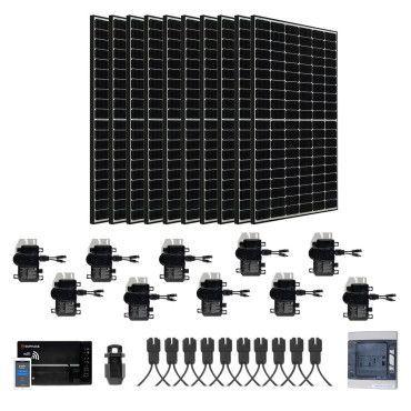 Kit Solaire raccordé réseau évolutif LG 3900W  - Portrait / Kit avec panneaux en mode portrait