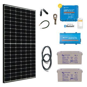 Kit solaire 390W autonome + convertisseur 230V/375VA / Kit pour site isolé