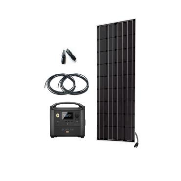 Kit Nomade 150W + ECOFLOW RIVER PRO 720WH / Kit solaire Véhicule