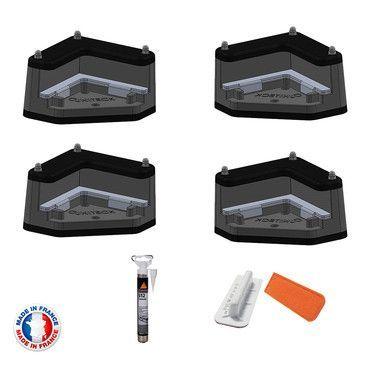 Fixation UNIFIX C30 pour camping-car (épaisseur cadre panneau 30mm) / Fixation panneau pour Camping-car / Bateau