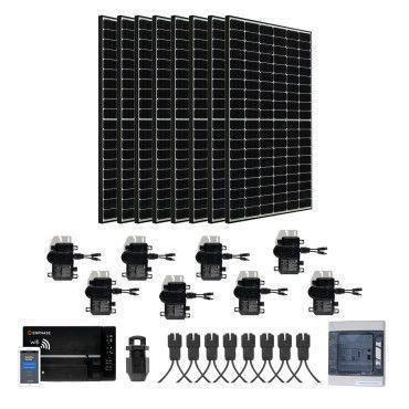 Kit Solaire évolutif 3000W Autoconsommation - Paysage - Triphasé / Kit avec panneau mode PAYSAGE