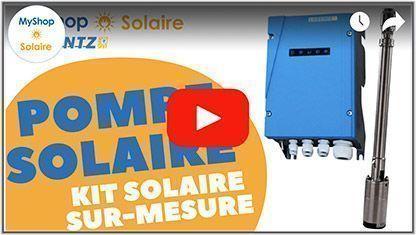 Vidéo pompe solaire